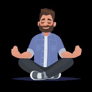 Mediterende man